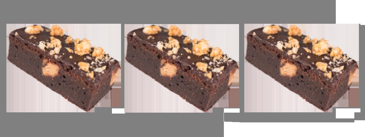 selbsgemachte brownies mit nuss